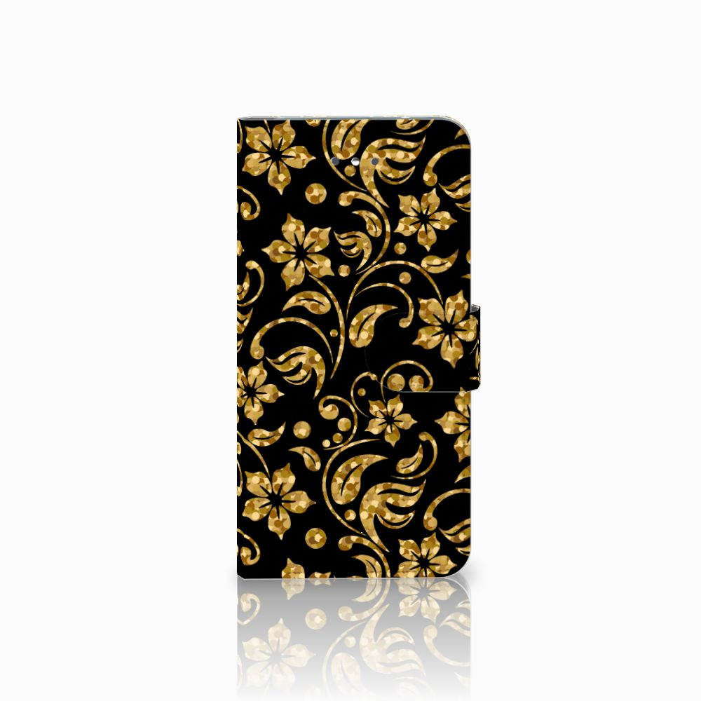 LG Nexus 5X Boekhoesje Design Gouden Bloemen