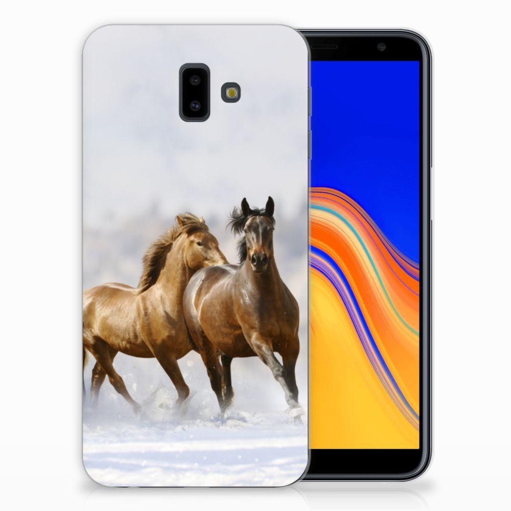 Samsung Galaxy J6 Plus (2018) Leuk Hoesje Paarden