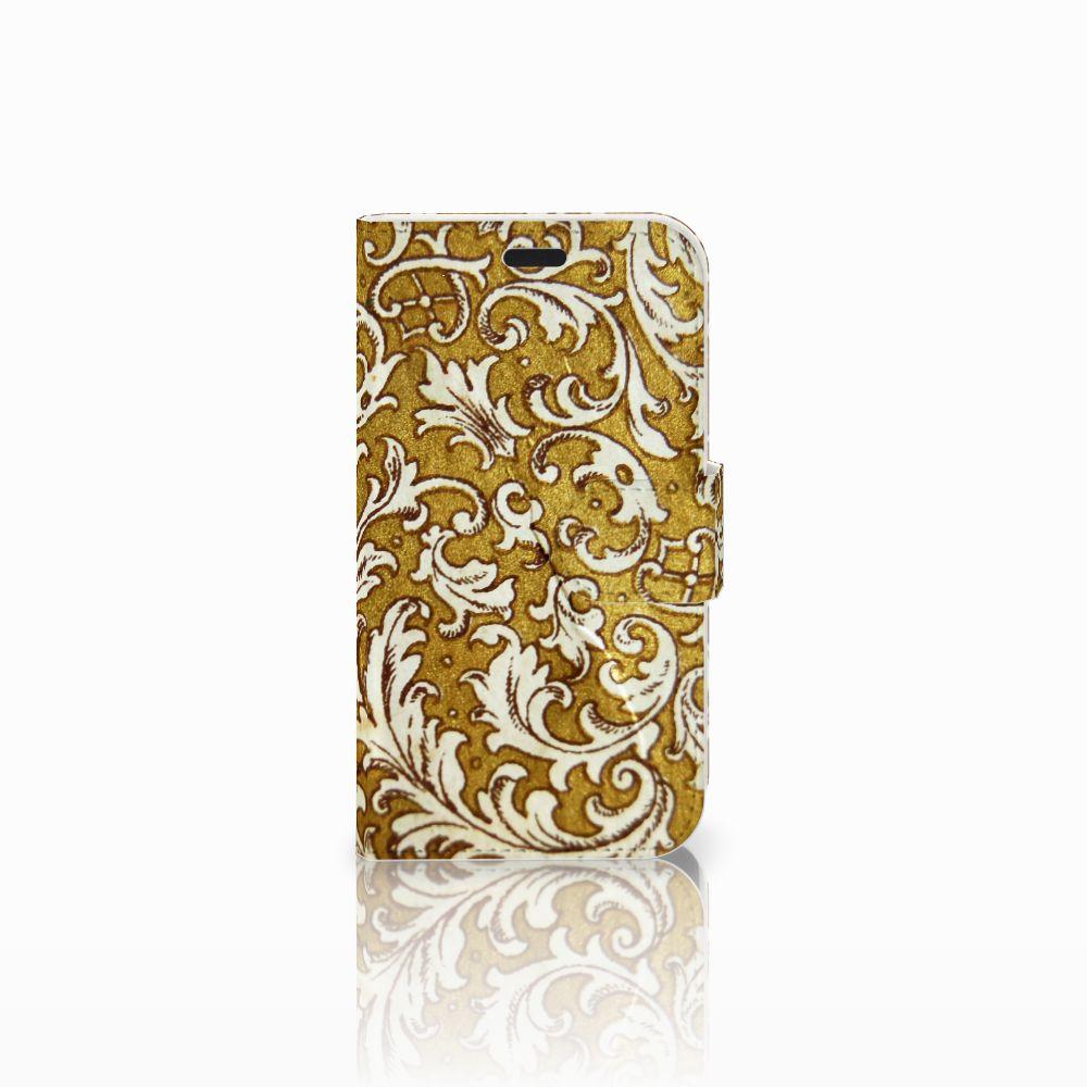 LG L Fino Boekhoesje Design Barok Goud