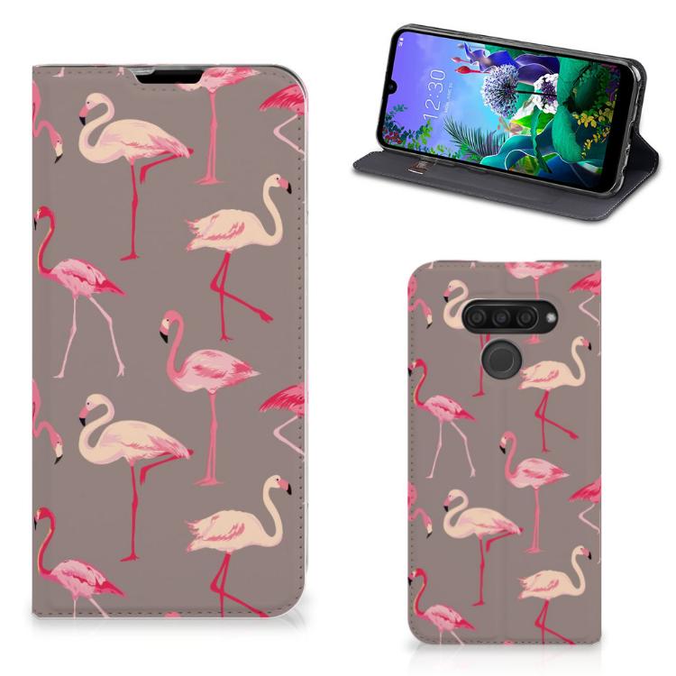 LG Q60 Hoesje maken Flamingo