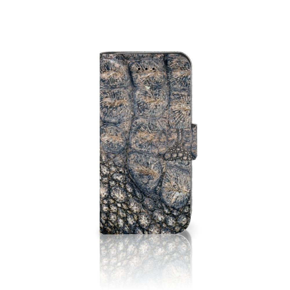 iPhone 7   8   SE (2020) Telefoonhoesje met Pasjes Krokodillenprint