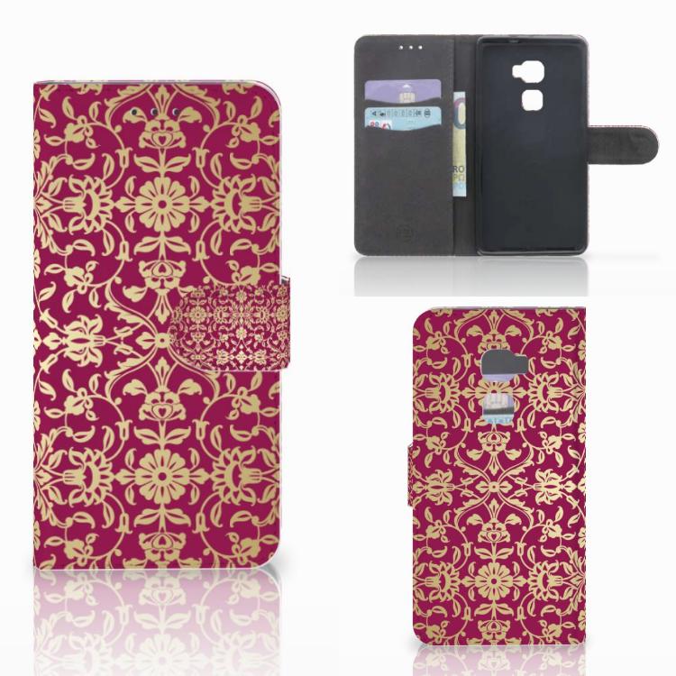 Wallet Case Huawei Mate S Barok Pink