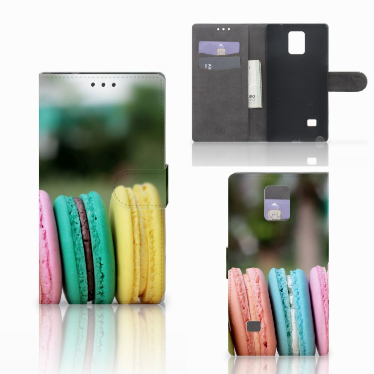 Samsung Galaxy Note 4 Book Cover Macarons