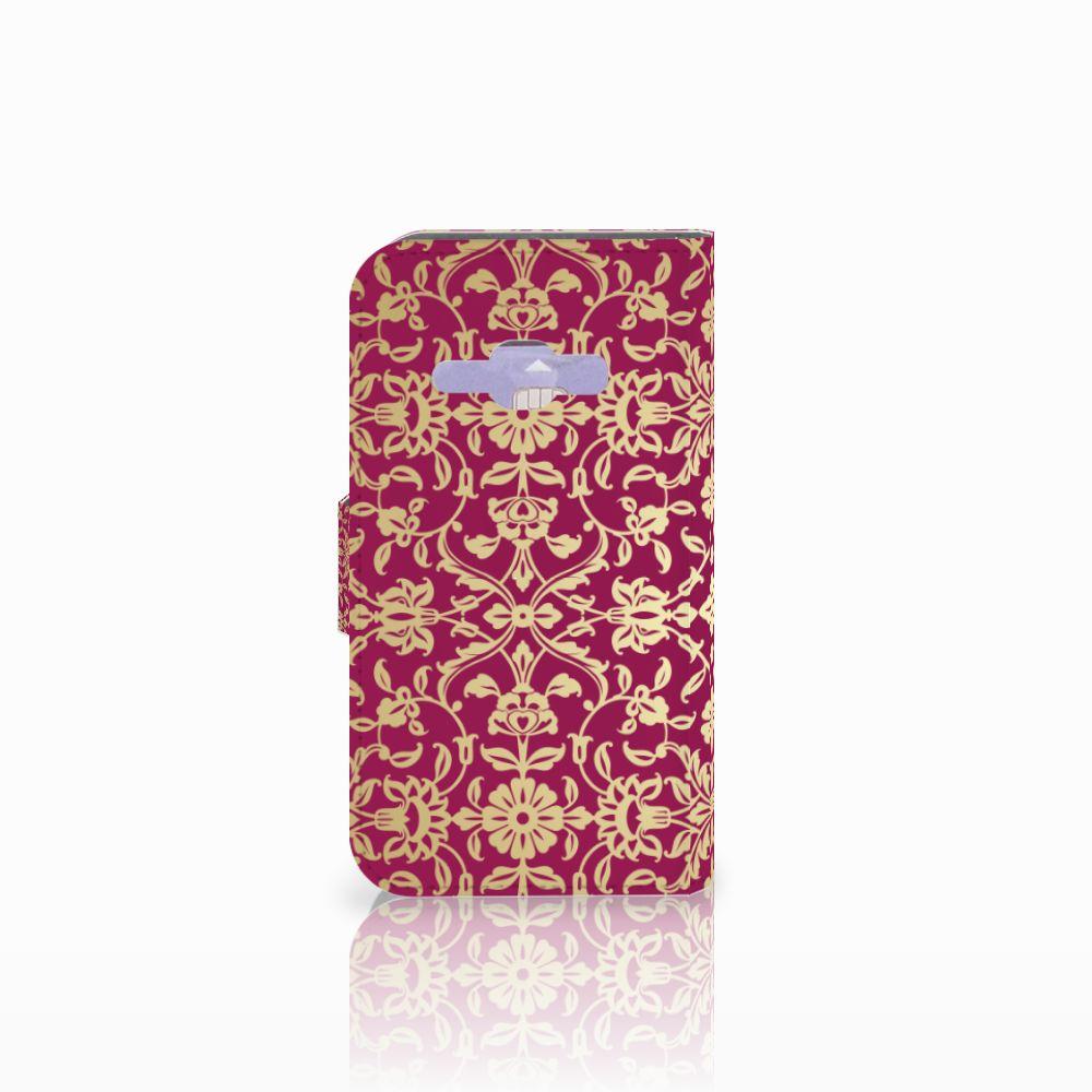 Wallet Case Samsung Galaxy J1 2016 Barok Pink