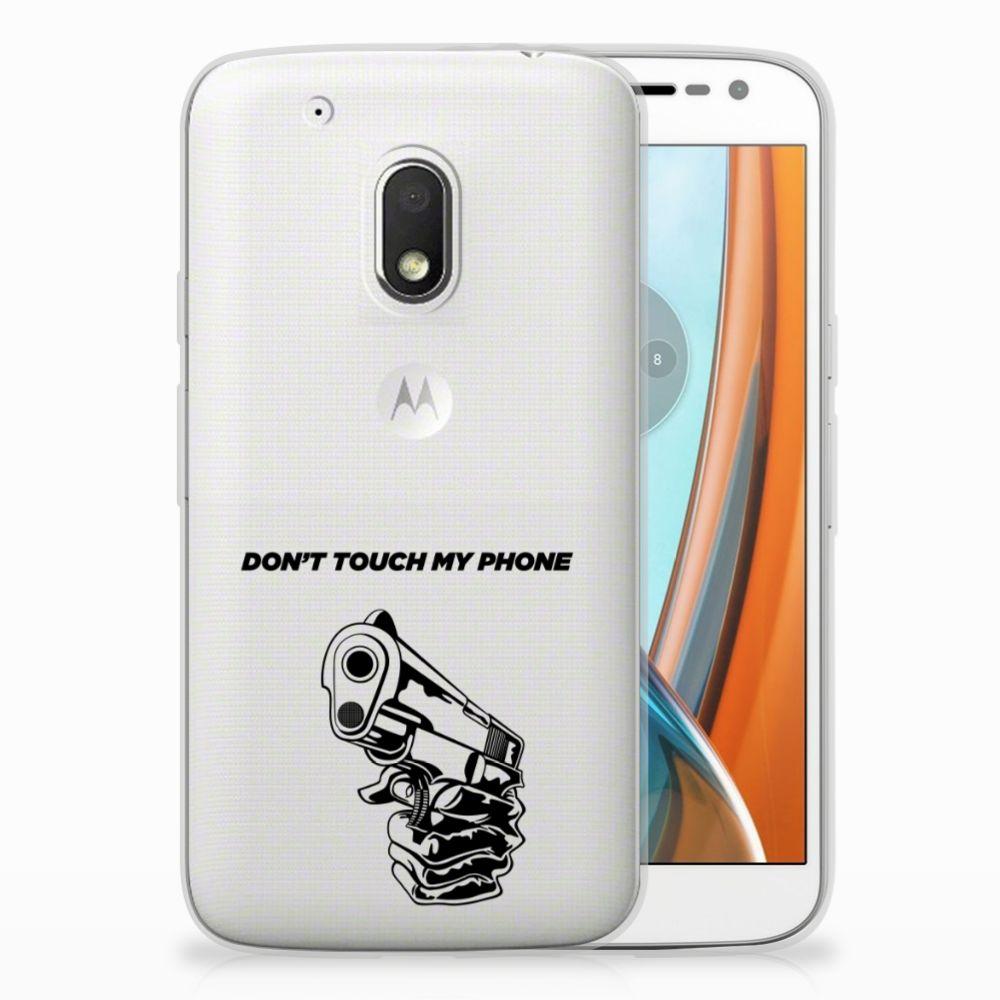 Motorola Moto G4 Play Uniek TPU Hoesje Gun DTMP