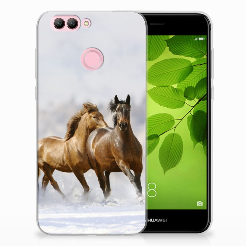 Huawei Nova 2 Uniek TPU Hoesje Paarden