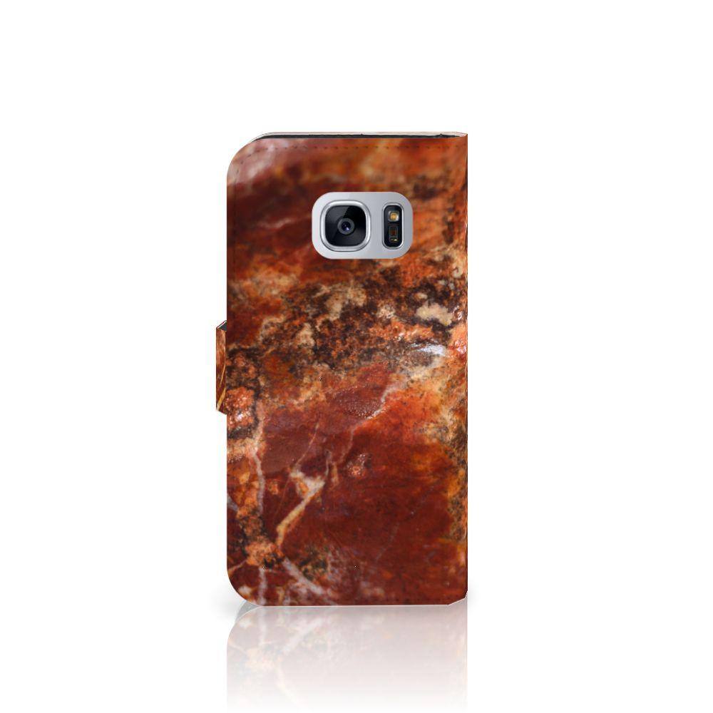 Samsung Galaxy S7 Bookcase Marmer Bruin