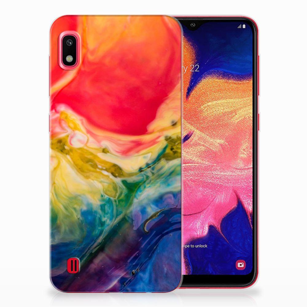 Hoesje maken Samsung Galaxy A10 Watercolor Dark