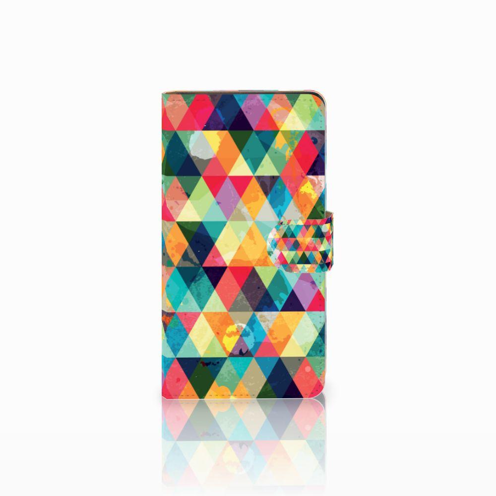 Huawei Ascend G700 Uniek Boekhoesje Geruit