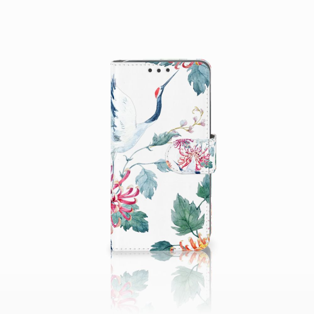 Huawei Y5 2 | Y6 II Compact Uniek Boekhoesje Bird Flowers
