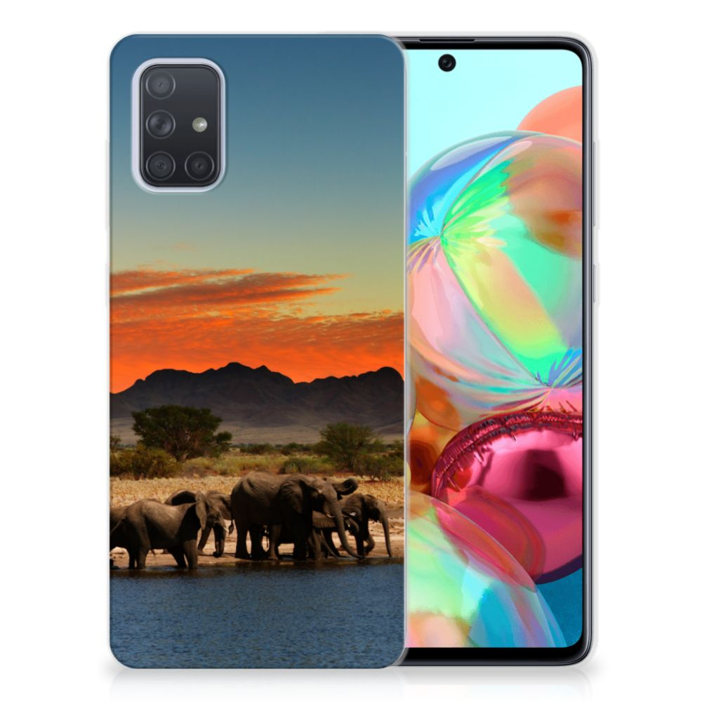 Samsung Galaxy A71 TPU Hoesje Olifanten