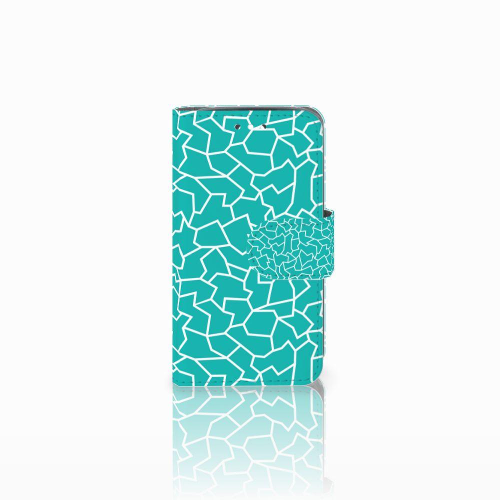 Huawei Y360 Boekhoesje Design Cracks Blue