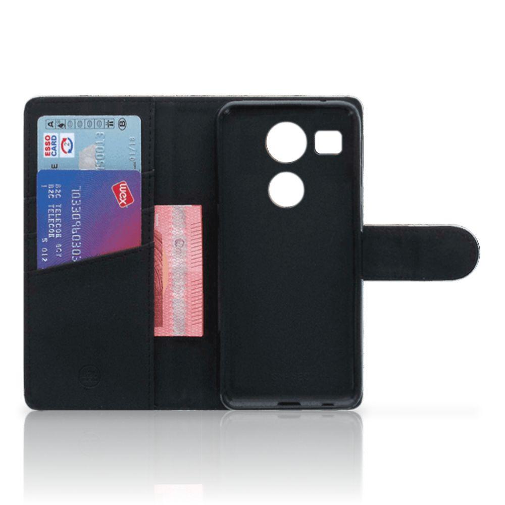 LG Nexus 5X Telefoonhoesje met Pasjes Cheetah