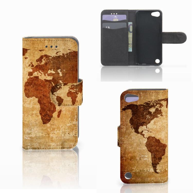 Apple iPod Touch 5 | 6 | iPod (2019) Flip Cover Wereldkaart