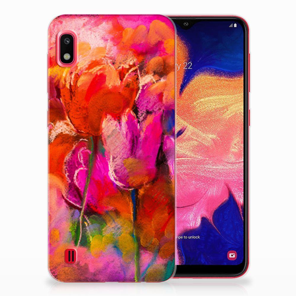 Hoesje maken Samsung Galaxy A10 Tulips
