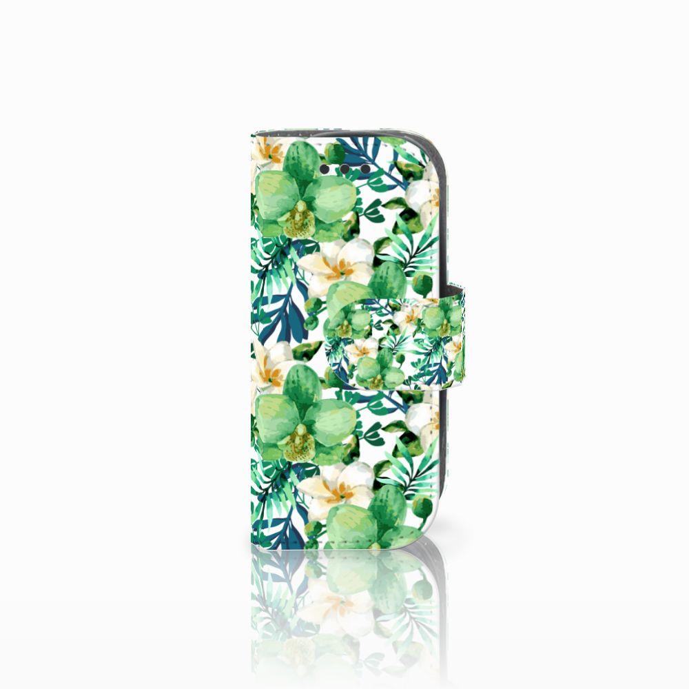 Nokia 3310 (2017) Uniek Boekhoesje Orchidee Groen