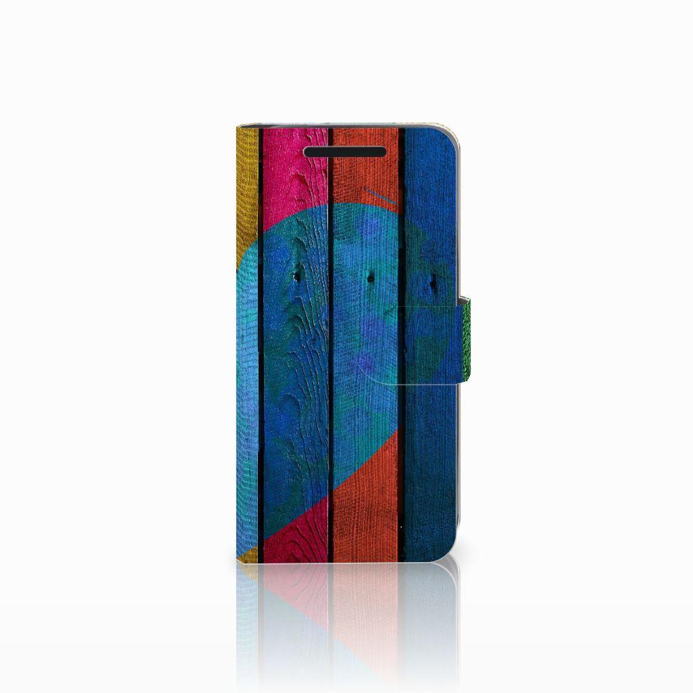 HTC One M9 Uniek Boekhoesje Wood Heart