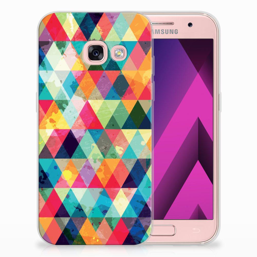 Samsung Galaxy A3 2017 Uniek TPU Hoesje Geruit