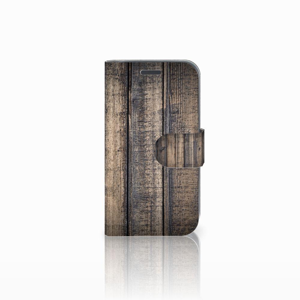 Samsung Galaxy J1 2016 Boekhoesje Design Steigerhout