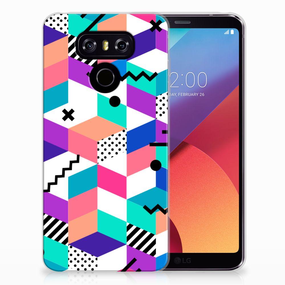 LG G6 TPU Hoesje Blokken Kleurrijk