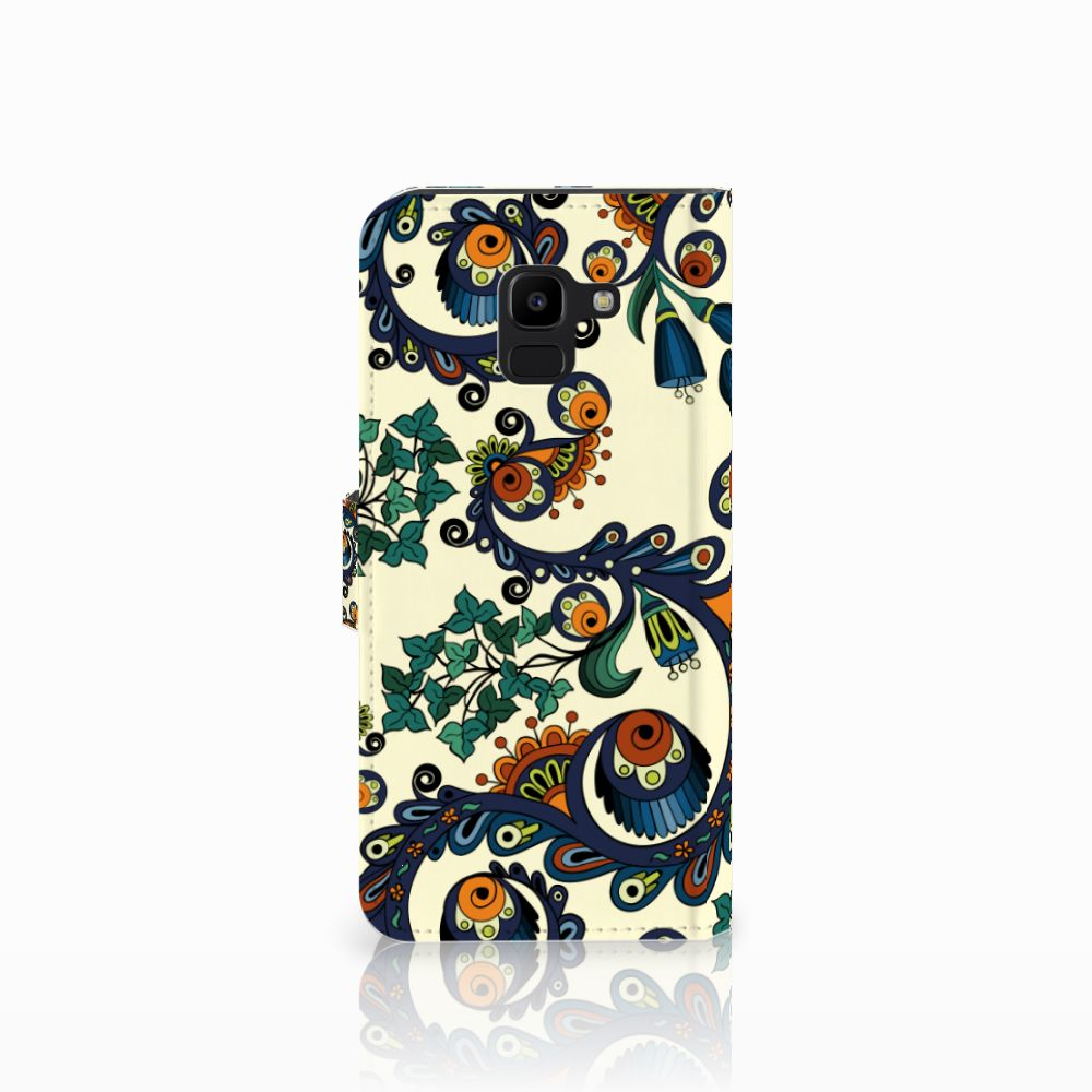 Wallet Case Samsung Galaxy J6 2018 Barok Flower