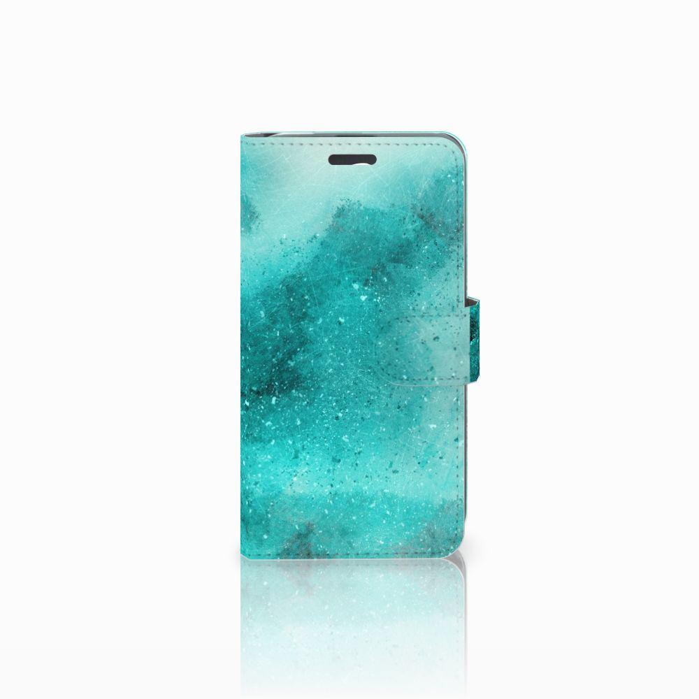 Acer Liquid Z520 Uniek Boekhoesje Painting Blue