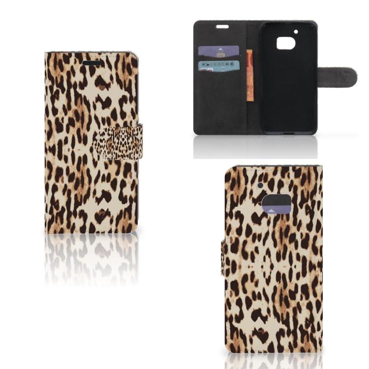 HTC 10 Telefoonhoesje met Pasjes Leopard