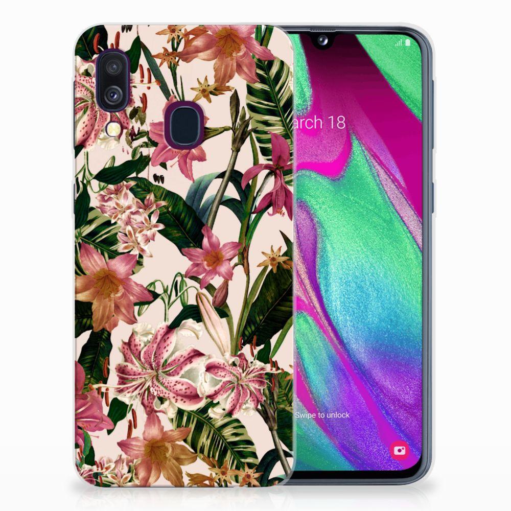 Samsung Galaxy A40 Uniek TPU Hoesje Flowers