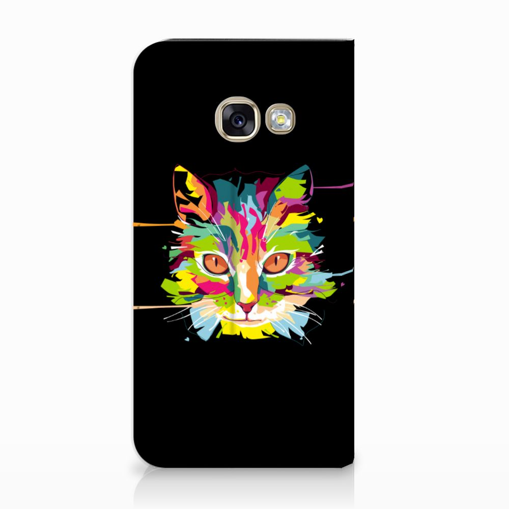 Samsung Galaxy A3 2017 Uniek Standcase Hoesje Cat Color