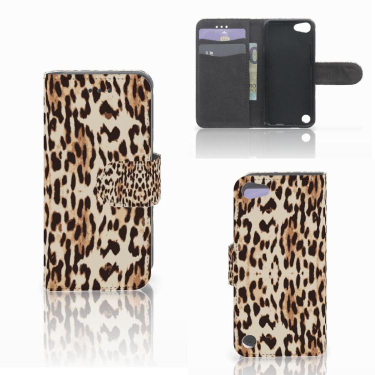 Apple iPod Touch 5 | 6 | iPod (2019) Telefoonhoesje met Pasjes Leopard