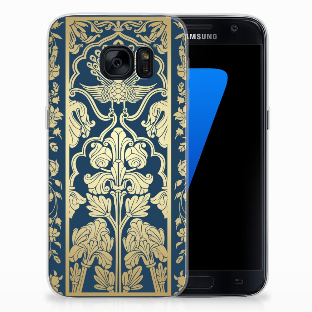 Samsung Galaxy S7 TPU Case Golden Flowers