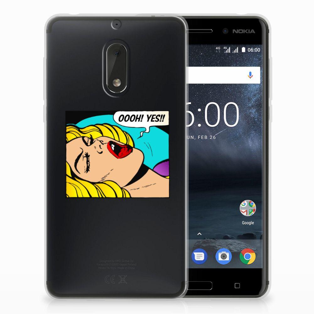 Nokia 6 Uniek TPU Hoesje Popart Oh Yes