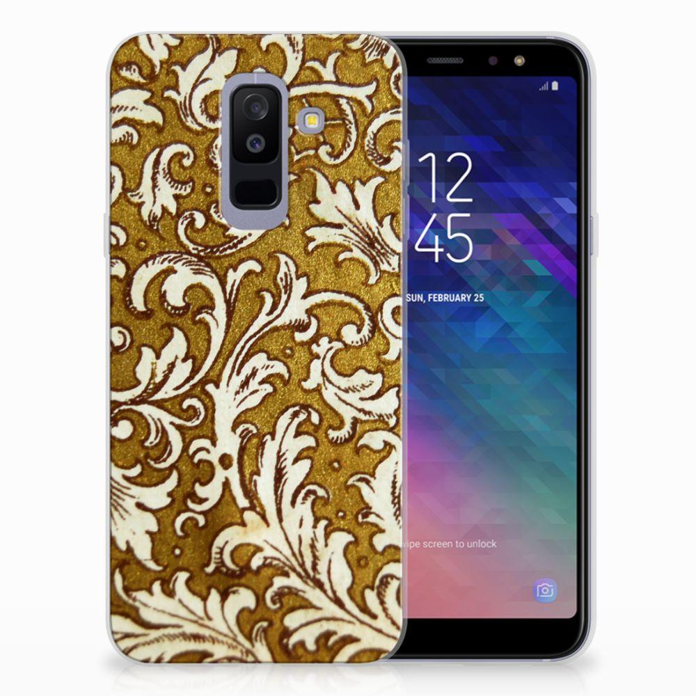 Samsung Galaxy A6 Plus (2018) TPU Hoesje Design Barok Goud