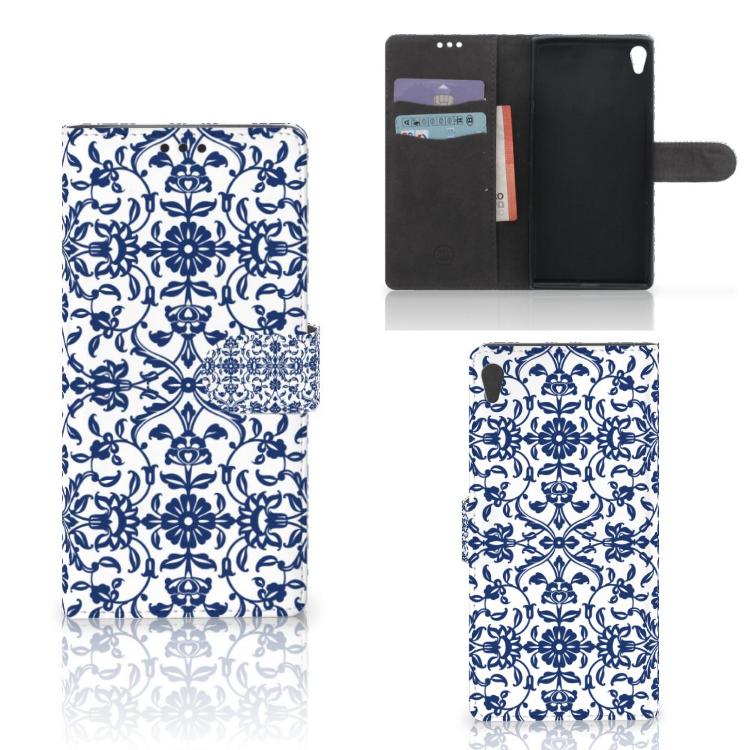 Sony Xperia XA Ultra Hoesje Flower Blue