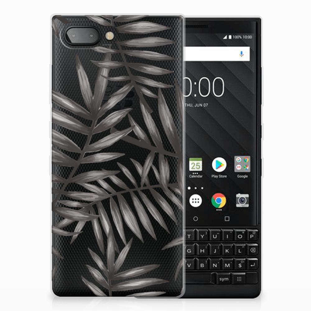BlackBerry Key2 Uniek TPU Hoesje Leaves Grey