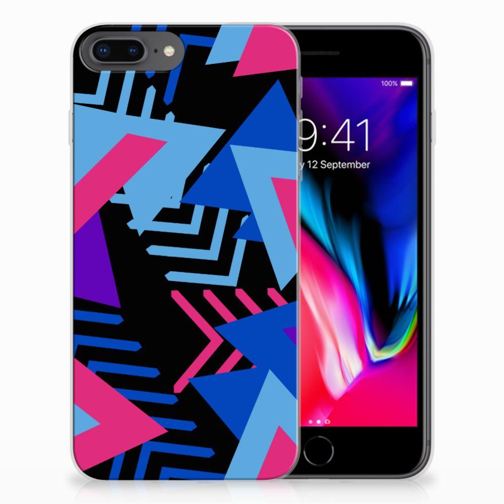 Apple iPhone 7 Plus | 8 Plus TPU Hoesje Funky Triangle