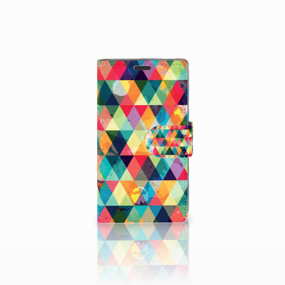 Nokia Lumia 625 Uniek Boekhoesje Geruit