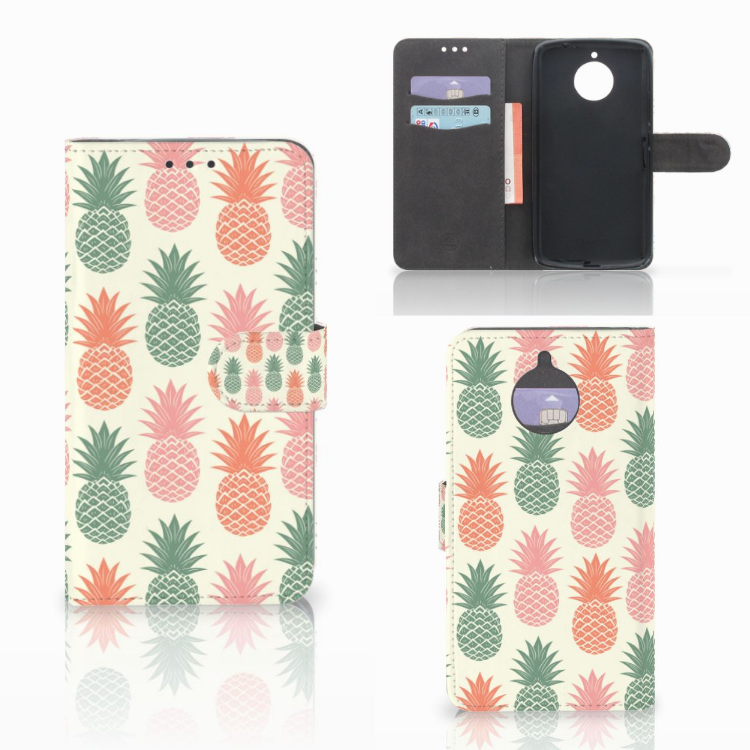Motorola Moto E4 Plus Book Cover Ananas