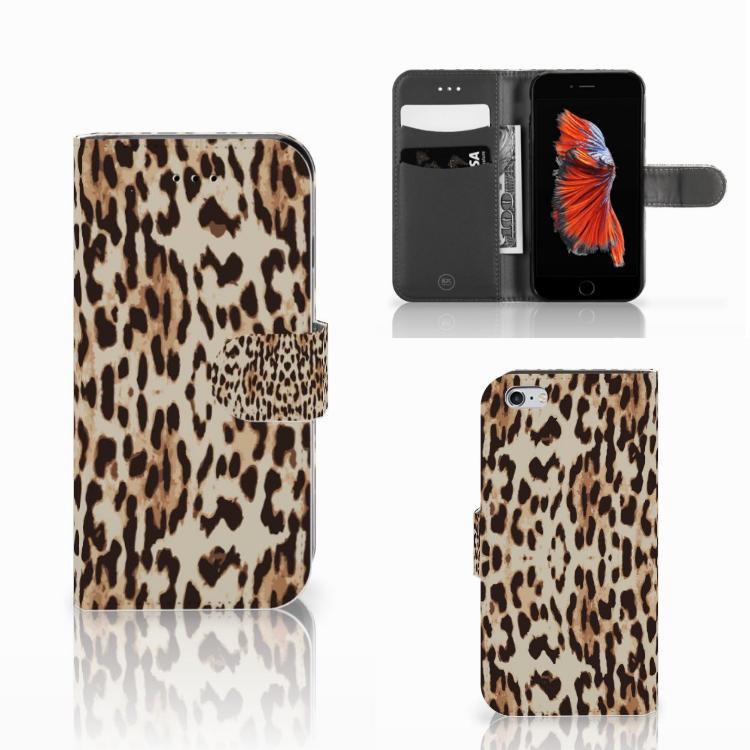 Apple iPhone 6 | 6s Telefoonhoesje met Pasjes Leopard