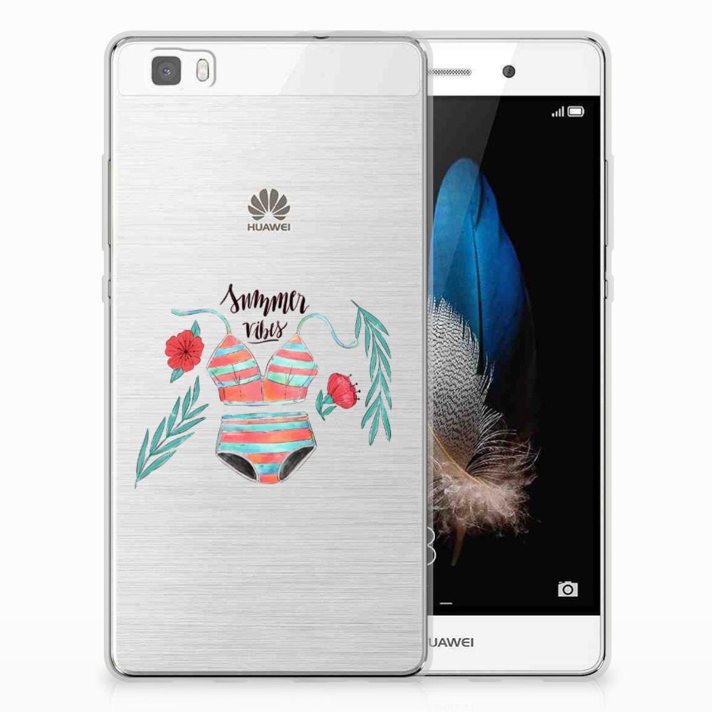 Huawei Ascend P8 Lite Telefoonhoesje met Naam Boho Summer