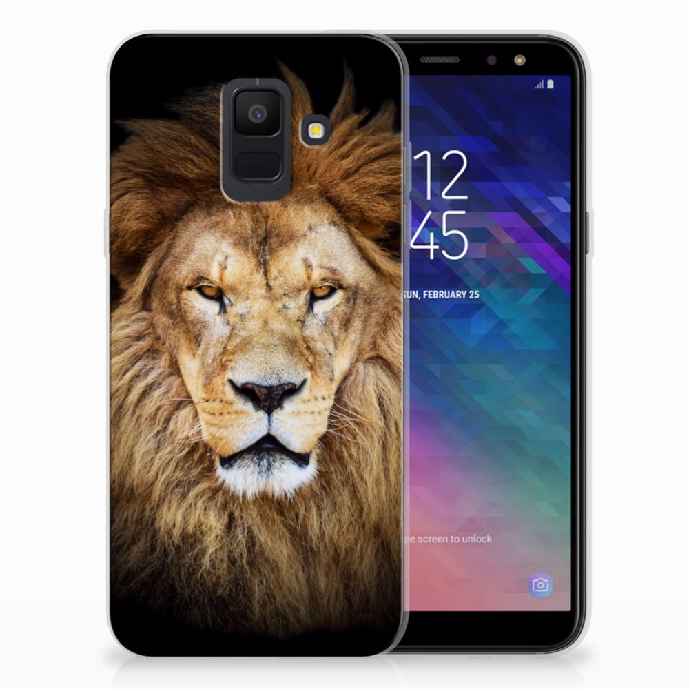 Samsung Galaxy A6 (2018) TPU Hoesje Design Leeuw