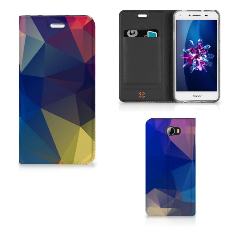 Huawei Y5 2 | Y6 Compact Stand Case Polygon Dark
