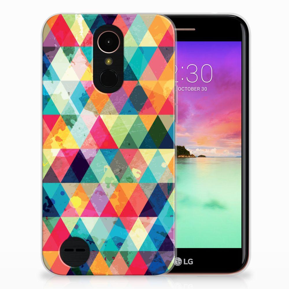 LG K10 2017 Uniek TPU Hoesje Geruit