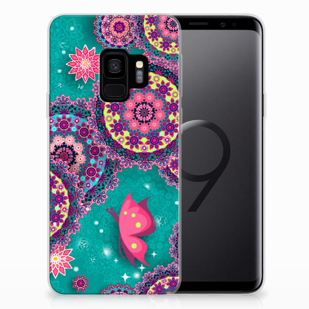 Samsung Galaxy S9 Hoesje maken Cirkels en Vlinders