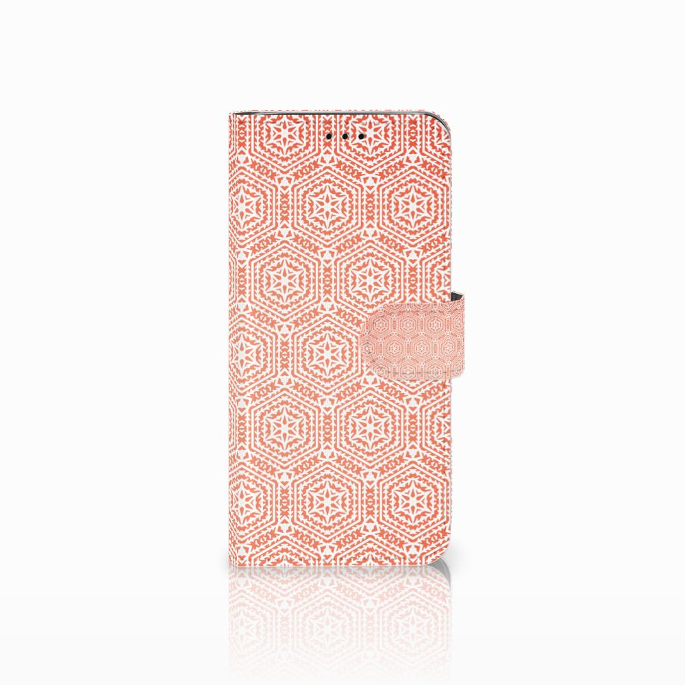 Samsung Galaxy J6 2018 Uniek Boekhoesje Pattern Orange
