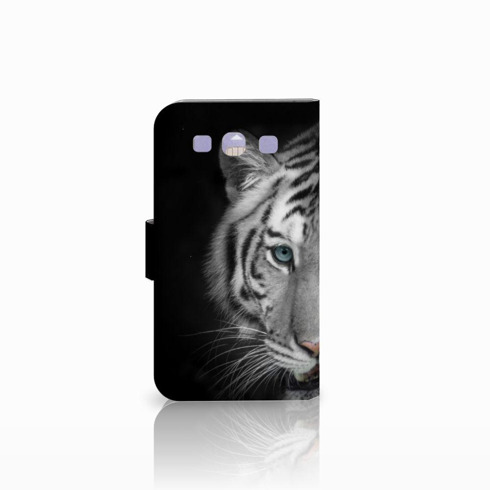 Samsung Galaxy S3 i9300 Telefoonhoesje met Pasjes Tijger