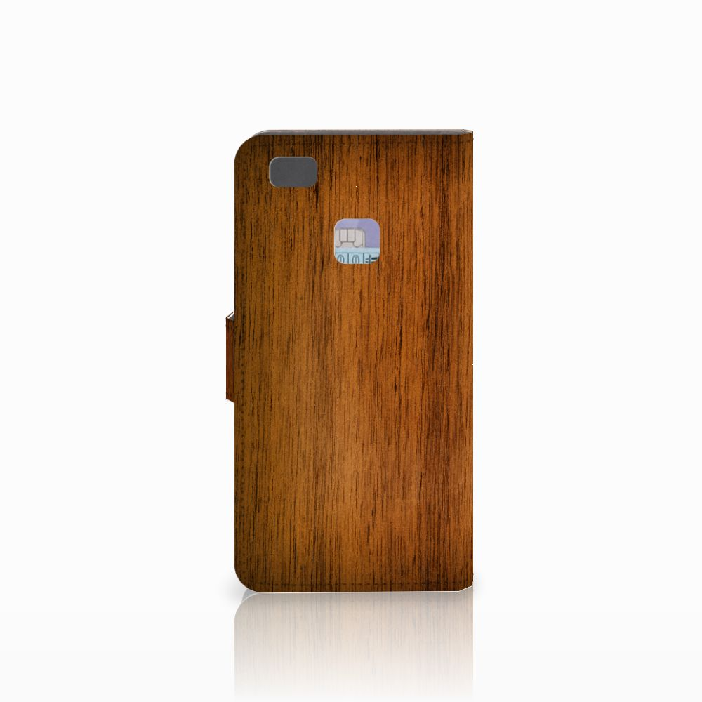 Huawei P9 Lite Book Style Case Donker Hout