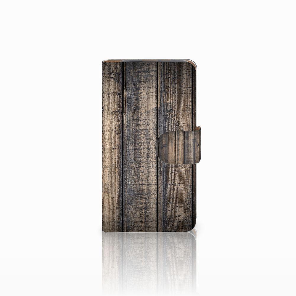 HTC Desire 310 Boekhoesje Design Steigerhout
