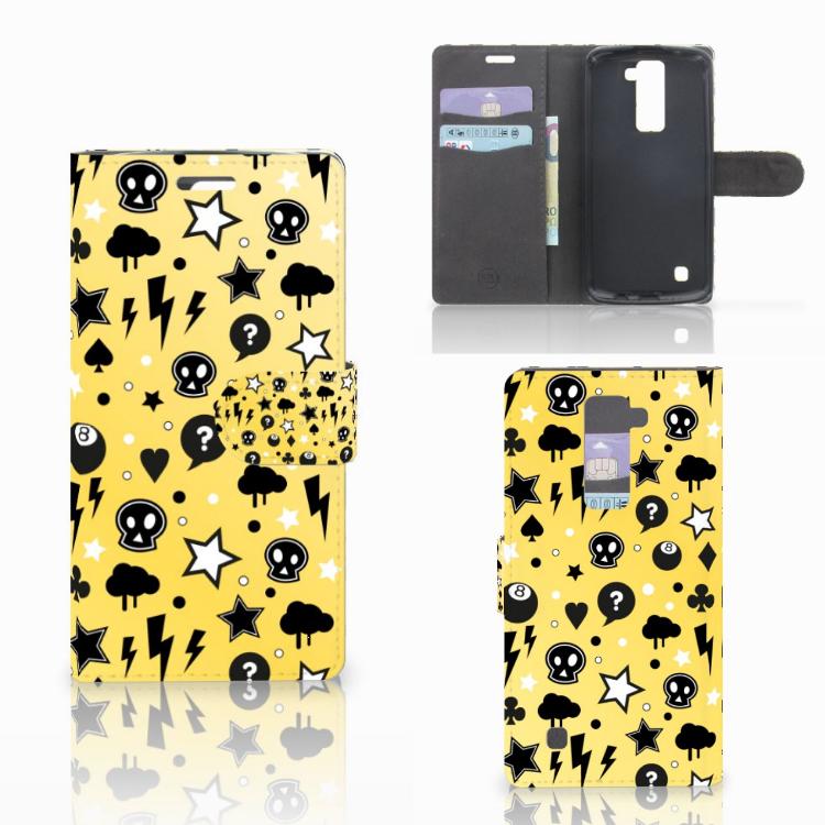 Telefoonhoesje met Naam LG K10 2015 Punk Geel
