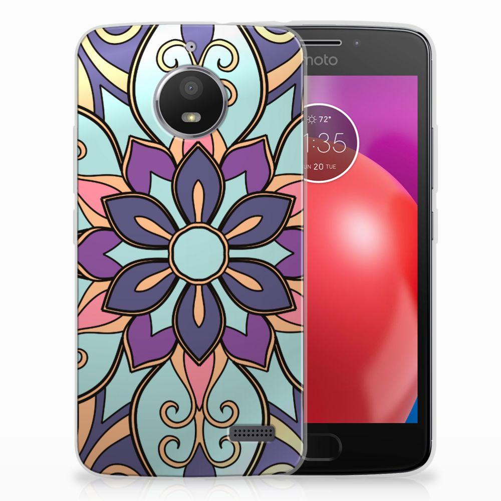 Motorola Moto E4 TPU Hoesje Design Purple Flower